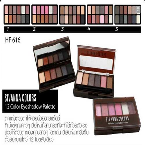 Sivana 12 Colors Eyeshadow